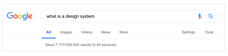 Google search design system