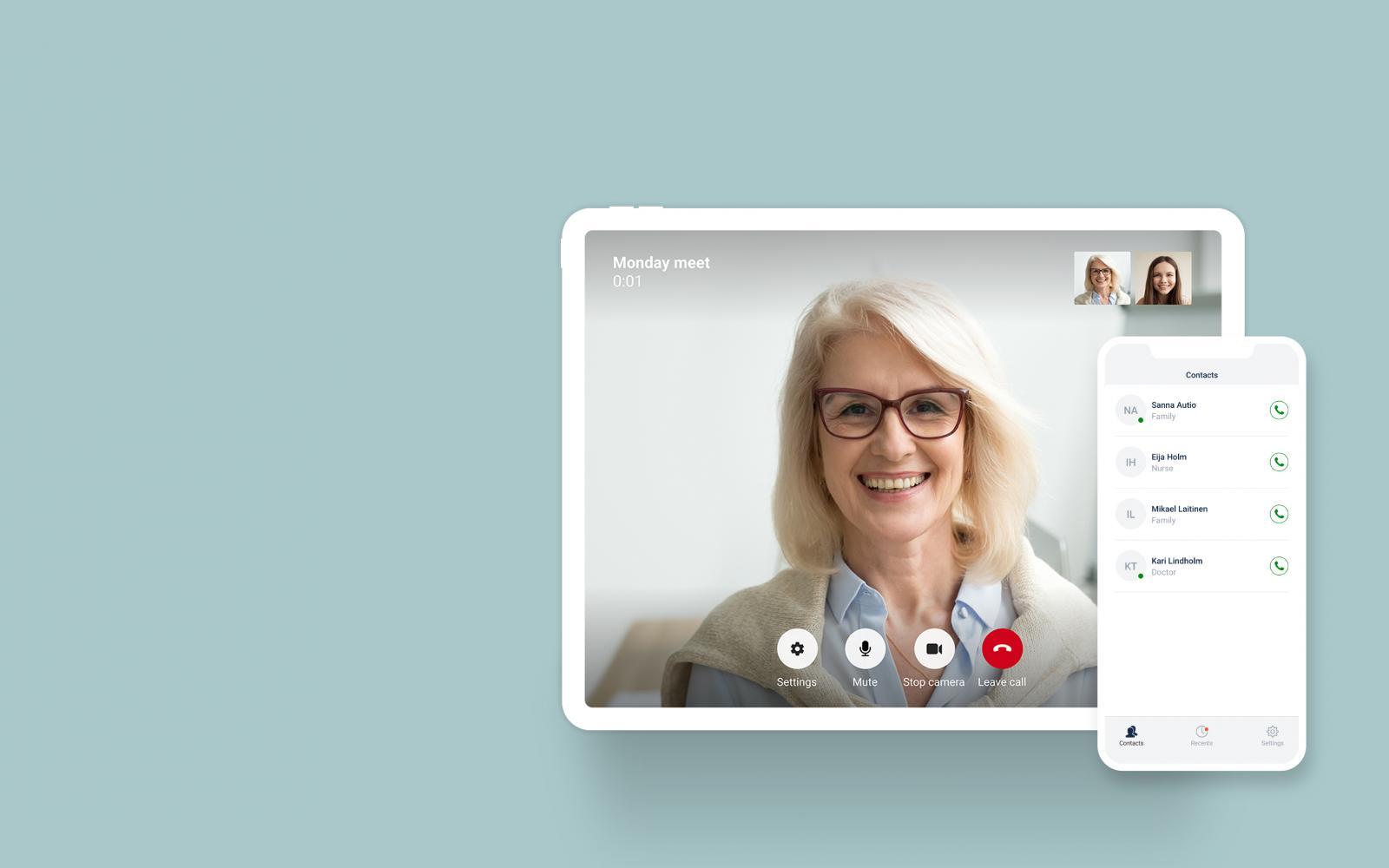 VideoVisit LiveMeet mobile app