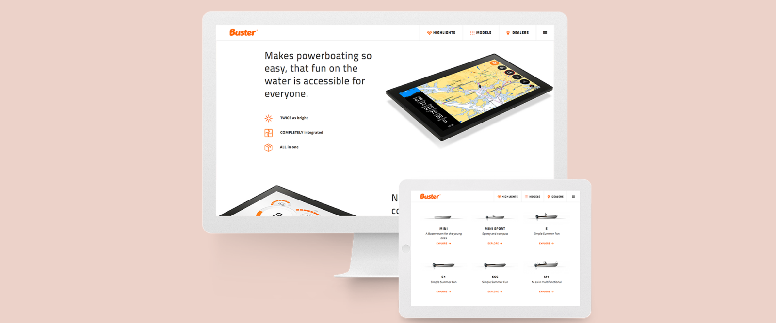 Buster website on devices